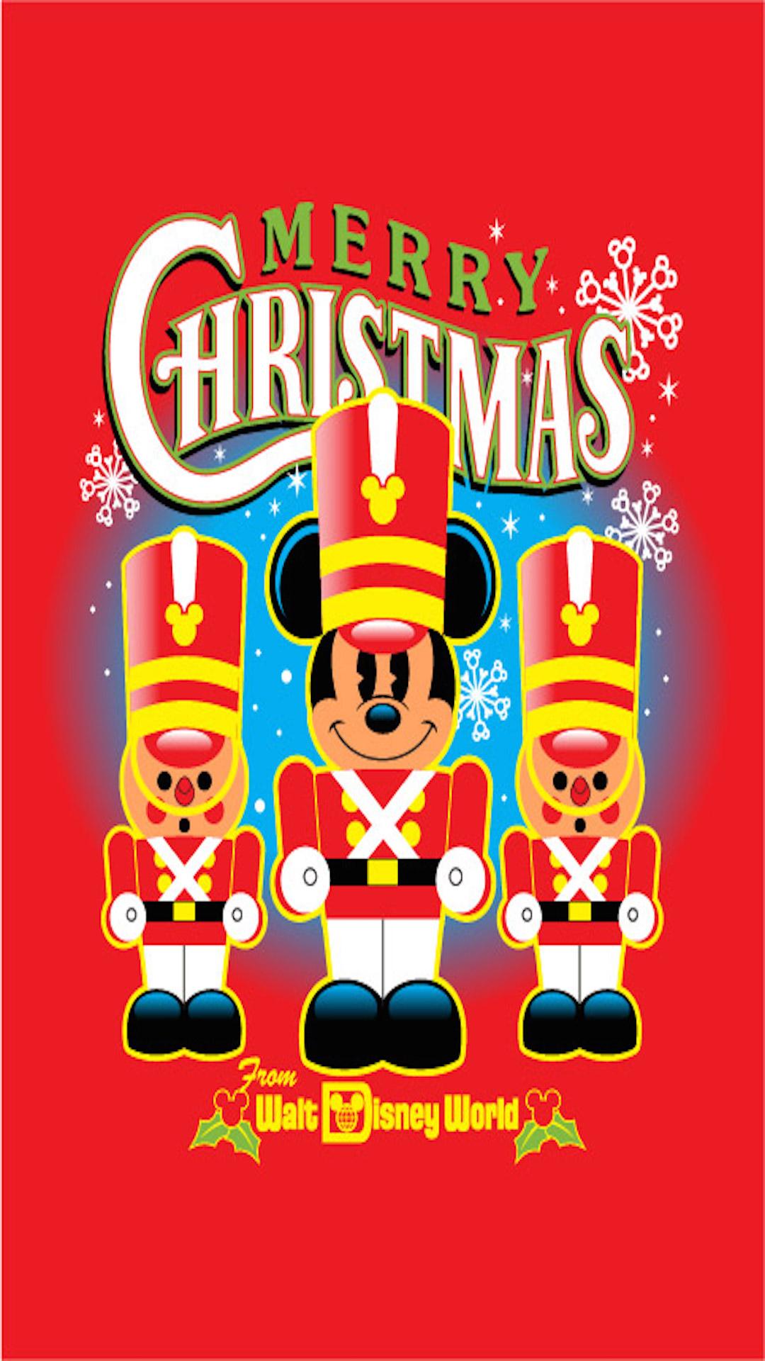 Nutcracker Mickey Mouse Christmas Phone Wallpaper