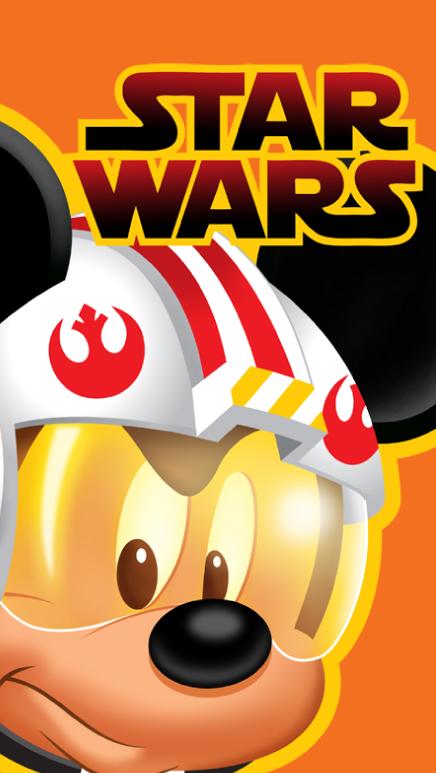 Star Wars Jedi Mickey Mouse Phone Wallpaper